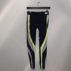 Fila Black & Yellow leggings size XS